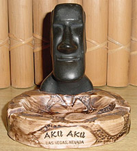Aku Aku Las Vegas ashtray, from the collection of Tiki Royale