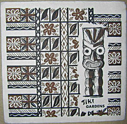 Tiki Gardens napkin, from the collection of JonPez