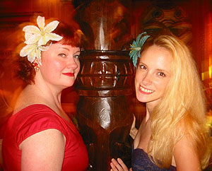 Tiki Kiliki & Humuhumu at the July 2004 Tiki Torch Night
