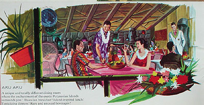 Artists' rendering of the Aku Aku in Las Vegas, from the collection of Sabu the Coconut Boy