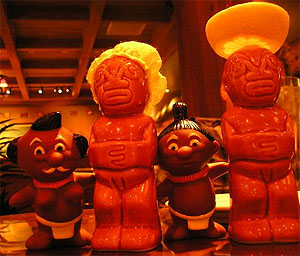 Salt & Pepper shakers and some menehune