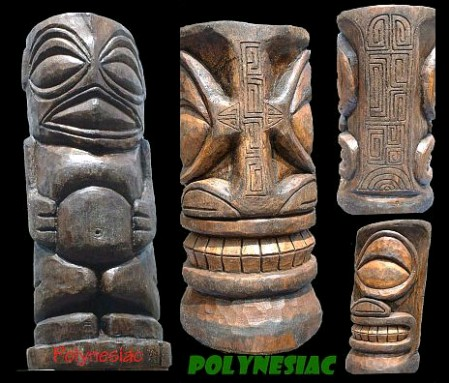 Two Polynesiac tikis recently stolen in Long Beach