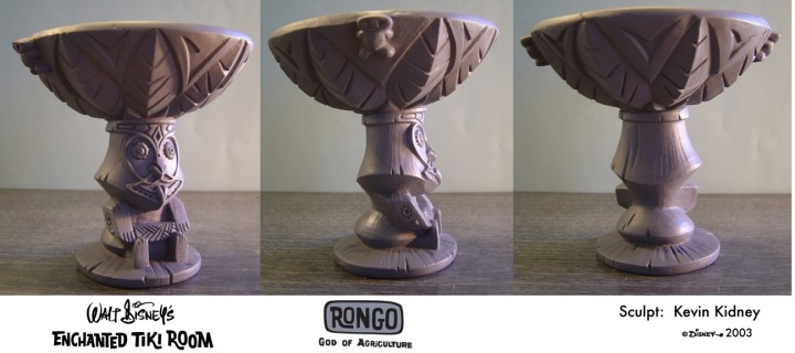 Rongo Bowl sculpt by Kevin Kidney