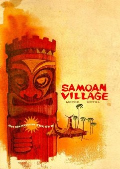 Samoan Village Menu from the collection of the Los Angeles Public Library
