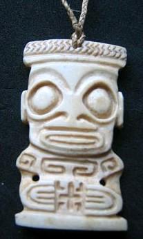 Marquesan bone pendant by Basement Kahuna