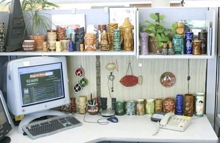 Rob Roy's tiki cubicle