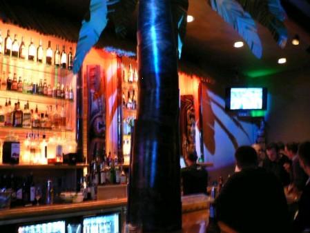 The bar at Smoke Tiki in San Jose