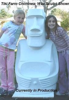 Tiki Farm moai chimenea