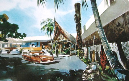 Vintage postcard from Trader Vic's Beverly Hills, from the collection of Mimi Payne