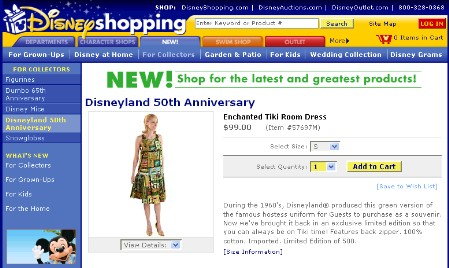 Enchanted Tiki Room Dress on DisneyShopping.com