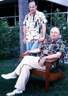 Harry S. Truman (seated) and Harry Vaughan, photo from the Truman Library