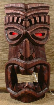 USB Tiki with pulsing eyes, from Tiki Zone