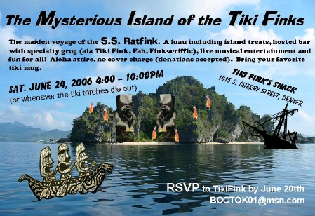Mysterious Island of the Tiki Finks flyer
