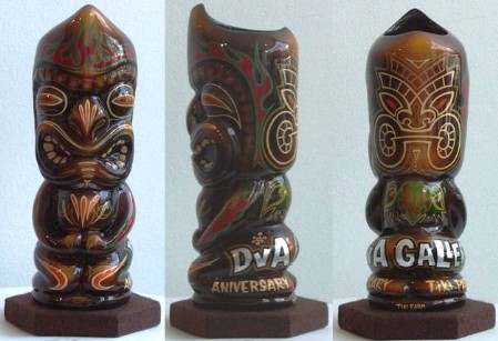Painted Tiki Mug for DvA Gallery show, by Mr. G