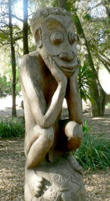 "Tiki ""Thinker"" at Stanford University"