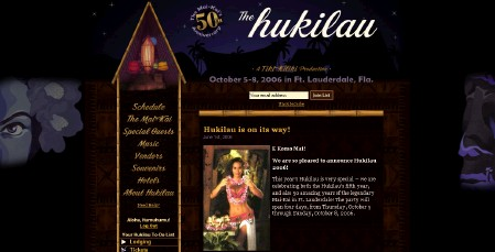 Website for Hukilau 2006