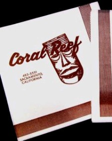 Coral Reef napkin