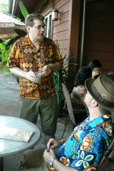 Hanford chats at Trader Vic's Palo Alto