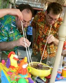 Mai Tai & Hanford share a Mystery Bowl