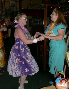 Sweetpea and Suzanne dancing at Trad'r Sam