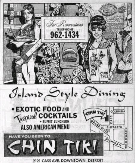 Ad for Chin Tiki, from the collection of Chub