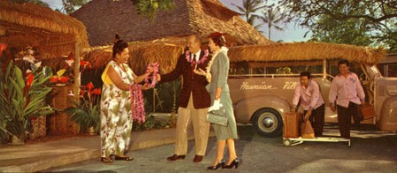 Detail of 1955 brochure from Hawaiian Village in Waikiki, from Arkiva Tropika
