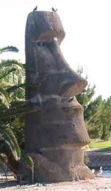 Eli Hedley-carved Moai at Sunset Park in Las Vegas, photo by aquarj
