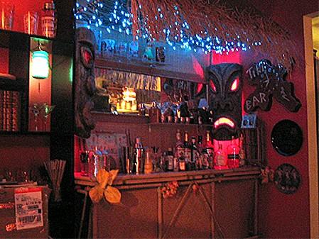 Frank Dellario's tiki bar today