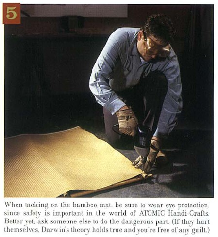 How to Build a Tiki Bar, Step 5, from Atomic Magazine Vol. 1, No. 3