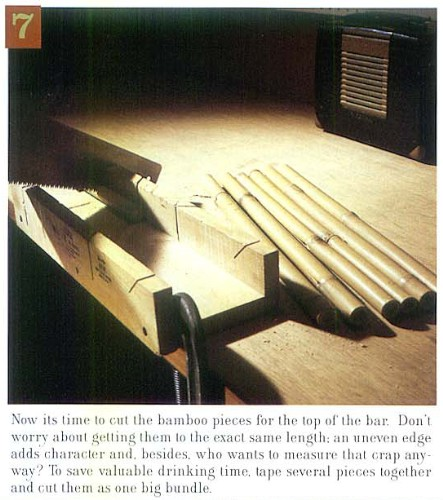 How to Build a Tiki Bar, Step 7, from Atomic Magazine Vol. 1, No. 3