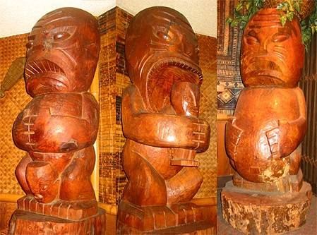 Jasmine Tree tikis, originally from the Portland Kon-Tiki