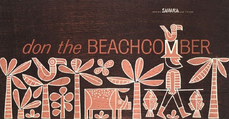 Las Vegas Don the Beachcomber menu, from the collection of Derrick Bostrom