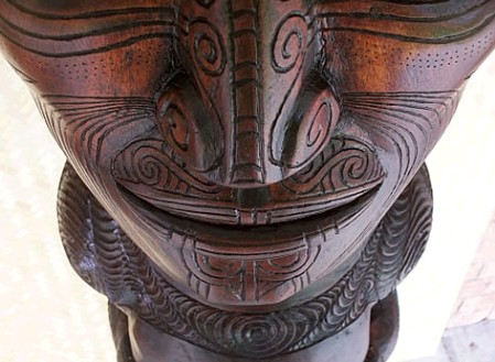 Maori-style carving by Marcus Thorn
