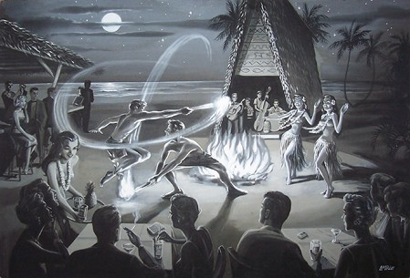 McVicker art of a Polynesian revue