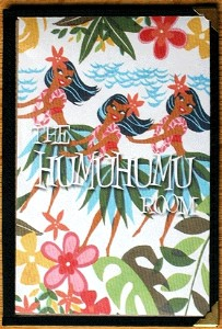 Menu from the Humuhumu Room