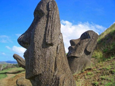 Moai on Rapa Nui, by harro
