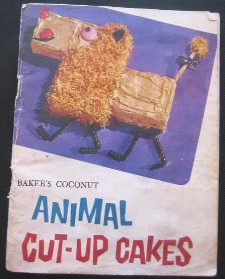 My 1959 Baker's Coconut Cut-Up Cakes brochure