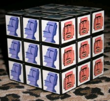 Shag tiki Rubix cube, by Atomicchick