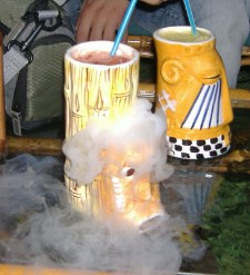 Smoking drink at Hawaika in Valencia, photo by Abha Malpani