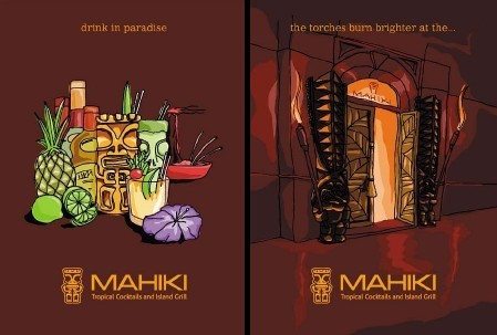 Mahiki, a new London tiki bar by Cheekytiki, artwork by tiki racer