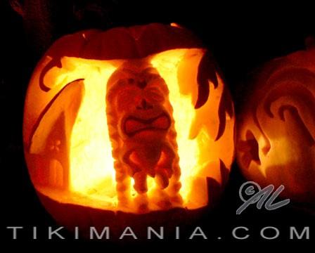 Tiki Jack o' Lantern, by Crazy Al Evans