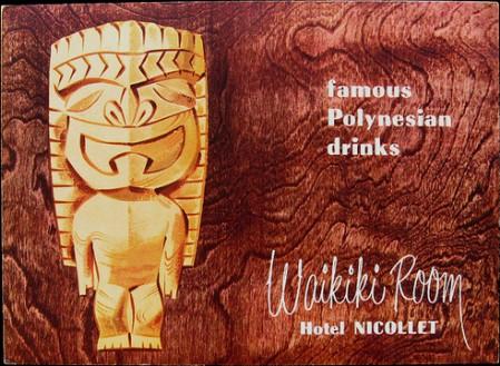 1954 Waikiki Room menu, from Mimi Payne's Arkiva Tropika