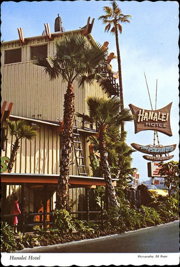 '60s or '70s postcard from the Hanalei Hotel in San Diego, from Arkiva Tropika