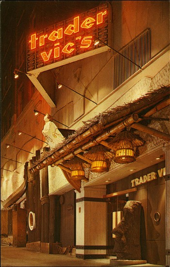 '60s postcard from Trader Vic's in Seattle, from Arkiva Tropika