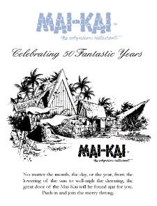 Ad for Mai-Kai 2007 Calendar