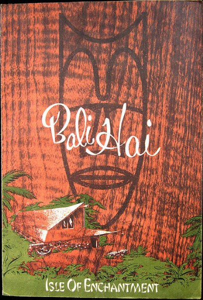 Menu from an unknown Bali Hai, from Arkiva Tropika