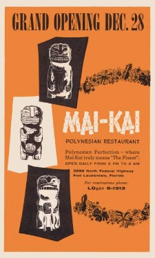 Ad for the Mai-Kai's opening day in 1956, from the Mai-Kai Archives