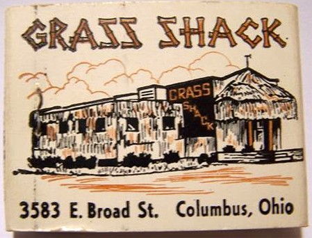 Grass Shack matchbook, from the collection of uncle trav