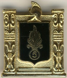 Insignia from the French Foreign Legion's 5ème RMP