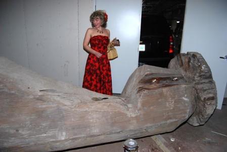 Original massive moai at Dallas Trader Vic's, photo by Kenike